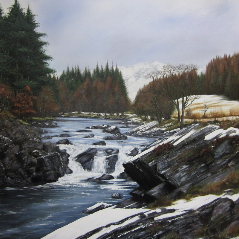 Image of SAS Summer Exhibition 2013 People's Prize winner (Orchy Falls by Alison Cutter)