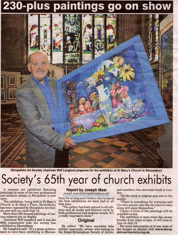 Image of Shropshire Star report of SAS Summer Exhibition 2013