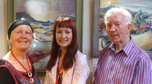 Image of Sally and Alan with Maggie Humphry winner of Judy Townsend Memorial Prize 2015