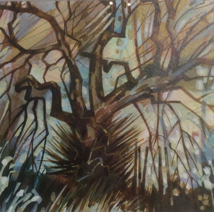 Image of winning painting SAS Summer Exhibition 2016 Judy Townsend Memorial Prize (Tony Purser, Tree Study 2)