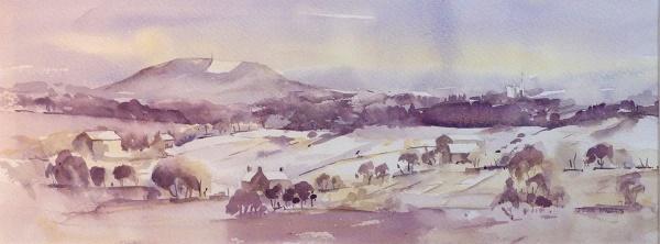Image of winning painting SAS Autumn 2016 Walker Harrison Prize (John Willetts, Snow on the Wrekin)
