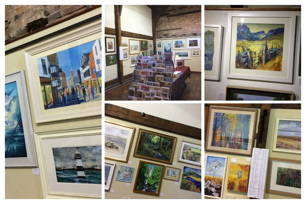 Collage of SAS Autumn Exhibition 2016 ready for opening