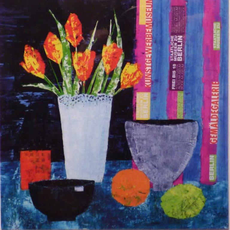 Image of winning painting SAS Judy Townsend Memorial Prize 2017 (Frank Hilton, Berlin Tulips)