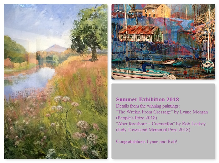 Details from the winning paintings SAS Summer Exhibition 2018 (Lynne Morgan and Rob Leckey)