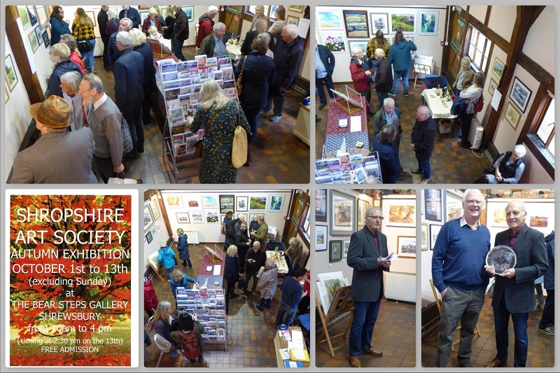 Collage of SAS Autumn Exhibition Social 2018
