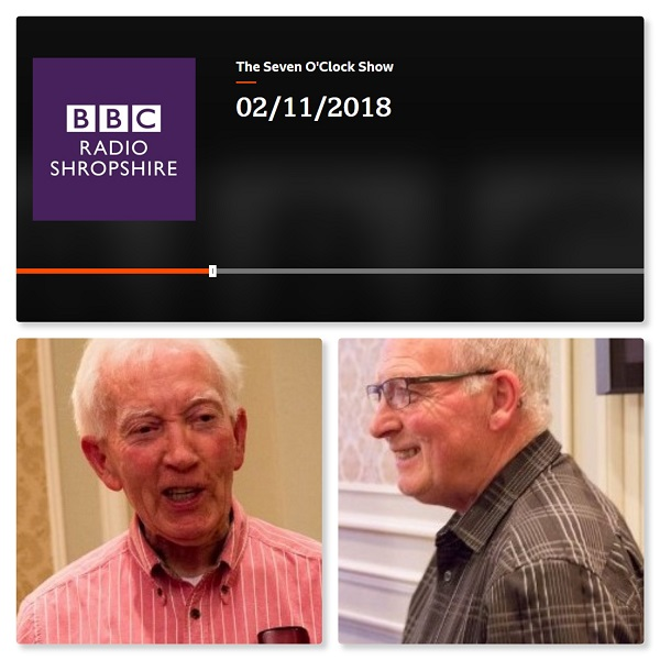 Collage of Alan and Wilf and the Seven O'Clock Show, Radio Shropshire