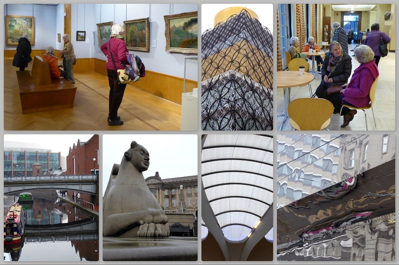Collage (2 of 2) of SAS Gallery Day Trip to Birmingham 2019
