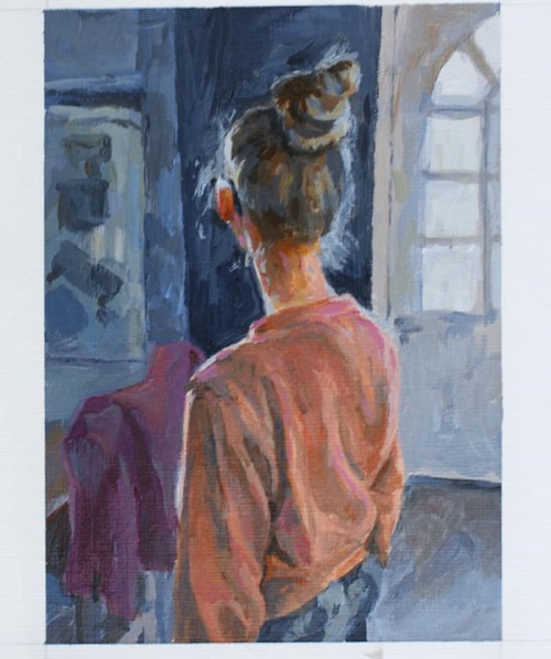 Image of the winning painting, Judy Townsend Memorial Prize 2019 (Kirsty Pankhurst, Saturday Evening)