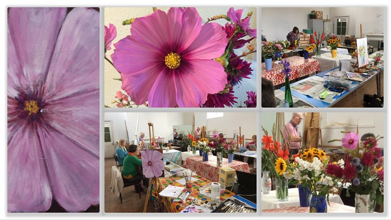 Collage of SAS floral Saturday Workshop 2017
