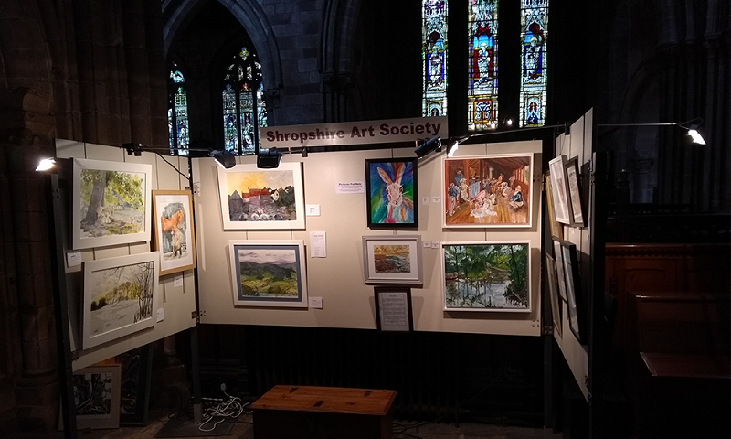 Image of SAS permanent exhibition space in St. Mary's Church, Shrewsbury.