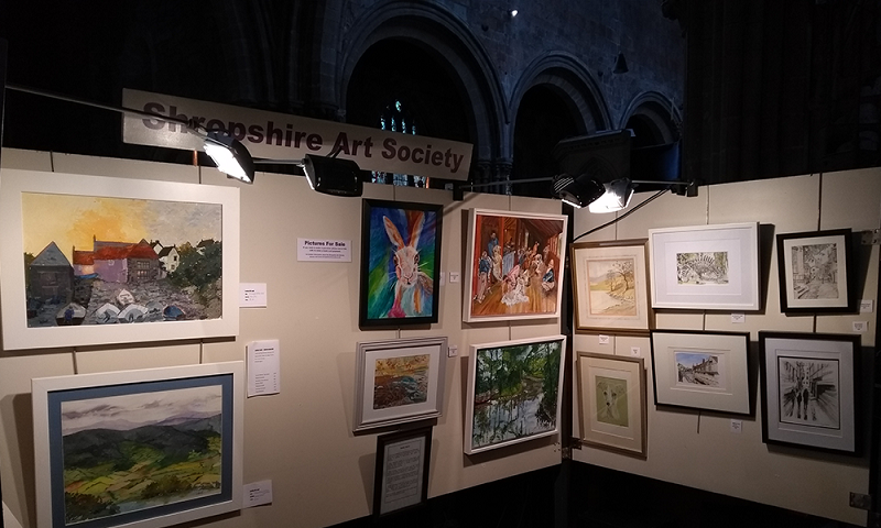 Image of SAS permanent exhibition space in St. Mary's Church, Shrewsbury, 2019