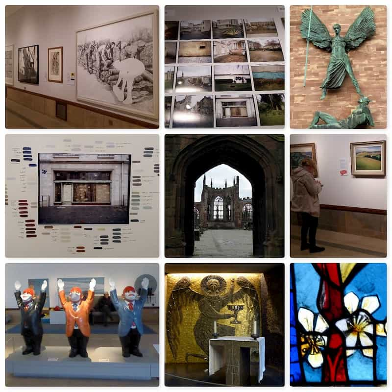 SAS collage of Autumn Gallery day trip to Coventry (2 of 2)
