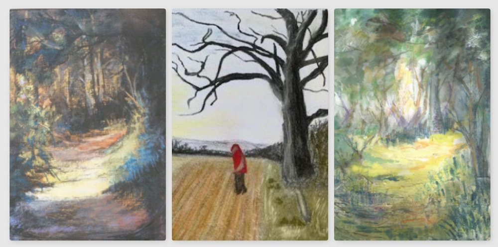 SAS from windows and walks paintings by our members, Autumn 2020