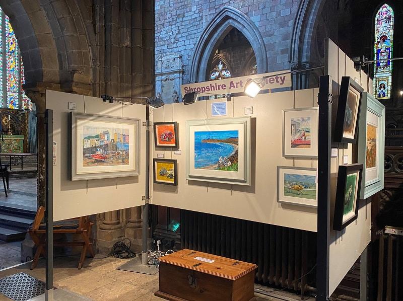 Shropshire Art Society permanent exhibition space in St. Mary's Church, Shrewsbury