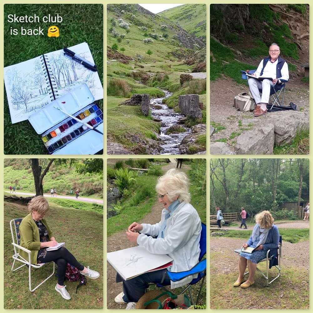 SAS Sketch Club day out to Cardingmill Valley